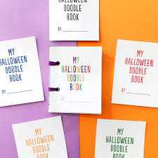 great halloween books hello wonderful diy mini halloween doodle books with free