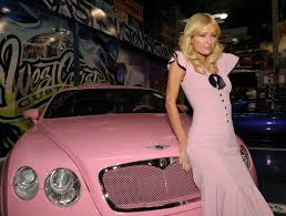 pink bentley galeria paris hilton brasil paris hilton poses with your pink