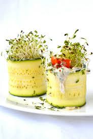 zucchini rolls with garlic dill tzatziki u2013 blissful eating