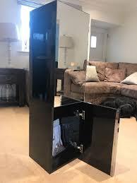 horizontal black bathroom cabinet 120 high gloss wall mounted