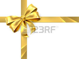 ribbon and bows christmas birthday or other gift gold golden ribbon and bow