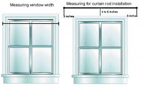 Where To Put Curtain Rods Catchy Width Of Curtains For Windows Ideas With How To Measure For