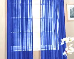 royal blue curtains etsy