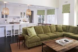 san francisco olive green sofa living room transitional with and