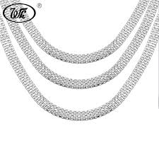 necklace chains silver images Wk 1 piece vintage 925 silver boys mens snake chain necklace hip jpg