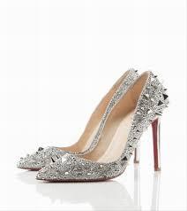 wedding shoes embellished heel designer silver wedding shoes gaga would approve modern silver