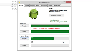 clean android phone clean master memory booster android iphone windows phone