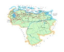 Where Is Venezuela On A Map Maps Of Venezuela Detailed Map Of Venezuela In English Tourist
