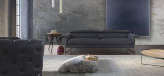 calia italia canapé en cuir canapé contemporain en cuir en tissu 3 places slim 1015