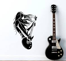 online get cheap interior rock wall aliexpress com alibaba group rock star guitar music wall decals living room decoration vinyl art stickers interior home wall decor