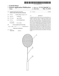badminton racket handle structure for training purpose diagram