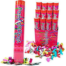 party poppers 12 pack large 12 inch confetti cannons air