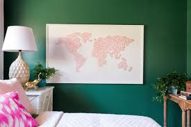 Large World Map Canvas how to make a large scale world map string art hgtv