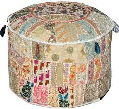 home accessory moroccan bean bag poufs patchwork cushions