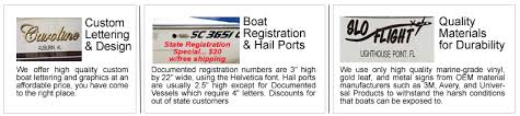 boat lettering service south florida