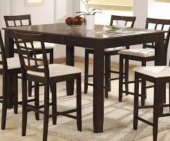 counter height dining room table sets dining room counter height dining table cappuccino finish