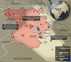Syria And Iraq Map by Iraqi Pm Warns Kerry That Isis Uprising Is A Threat To World Peace