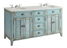 Cottage Bathroom Vanities by Adelina 60 Inch Cottage Double Sink Bathroom Vanity