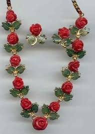coral roses indian jewelry designs coral roses