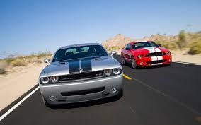 mustang vs dodge challenger motor trend comparo dodge challenger srt8 vs ford mustang gt500