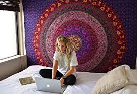 Psychedelic Room Decor Amazon Com Hippie Tapestry Hippy Mandala Bohemian Tapestries