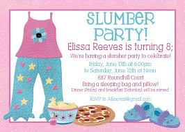 cute birthday invitations cute slumber party invitation card design or announcement flyer