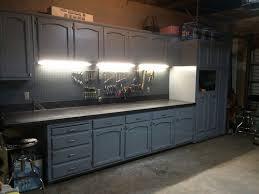 refurbished kitchen cabinets for the ultimate work bench garage