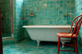 blue and green bathroom ideas small bathroom using large tiles combined with light this
