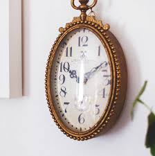 Oval Office Clock by Gold Brass Vintage Oval Wall Clock By Made With Love Designs Ltd