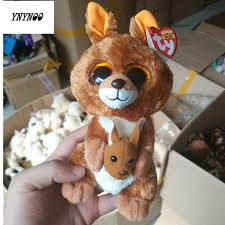 aliexpress buy ynynoo ty beanie boos kangaroo 6inch big eyes