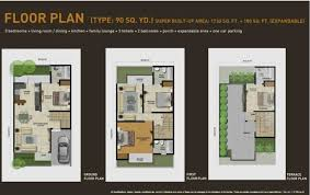 Expandable Floor Plans Panchsheel Villas Noida Extension Panchsheel Villas Noida