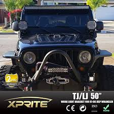 jeep wrangler tj light bar jeep tj wrangler 50 led windshield mounting bracket lower brackets