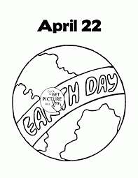 earth day april coloring page for kids coloring pages printables