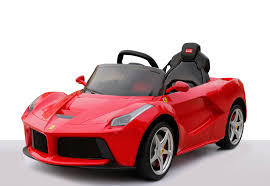 ferrari electric car rastar 12v red ferrari laferrari rechargeable kids electric ride