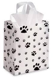 paw print tissue paper medium paw print gift bag set