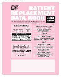 battery replacement data book 1994 2013