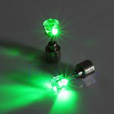 led earrings 1pair bling light up led earrings blinking ear studs accessories