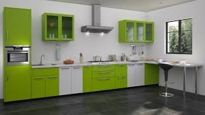 green modular kitchen designs straight kitchen designs