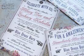 boardwalk bride carnival wedding invitation with vaudeville
