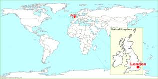 England On Map England On A World Map Pointcard Me