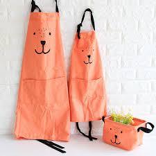 tablier cuisine fille 3 couleur mignon expression parental tablier tablier de cuisine