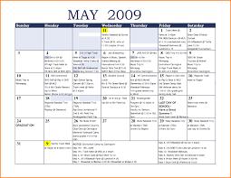 Calendar Template For Excel 7 Monthly Calendar Template Excel Memo Templates