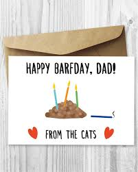 funny printable birthday card from the cats cat barfday