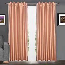 Silk Dupioni Curtains Pair Of Faux Silk Dupioni Curtains Tab 102 260 Cm