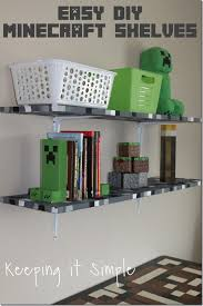 Decorations For Boys Bedrooms by Minecraft Boys Bedroom Ideas Easy Diy Minecraft Shelves