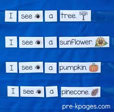 fall autumn season theme pre k preschool kindergarten
