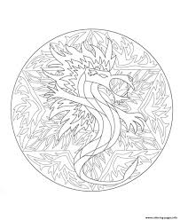 mandala dragon 5 coloring pages printable
