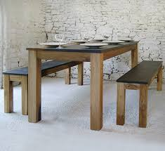 Dining Table Without Chairs Inspiring Oak Benches For Dining Tables Pacha Design Handmade