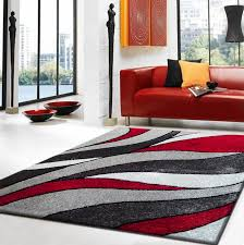 rug factory plus lola hand tufted gray red area rug u0026 reviews