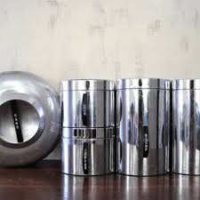 silver kitchen canisters shop coffee tea sugar canister set on wanelo